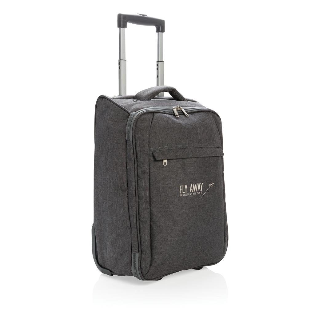 Duo tone opvouwbare trolley | Polyester | 23 x 34 x 50 cm